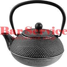 Чайник с ситечком;  чугун;  0,9л;  D=89,H=110,L=160мм;  черный в Рязани
