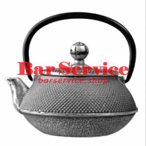 Чайник с ситечком; чугун; 650мл; D=8.7,H=9.4,L=14.5см черный в Рязани